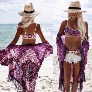 Bohemian boho bikini cover up